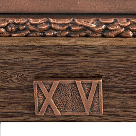 Way of the cross in copper plated bronze and wood, 15 stations s4