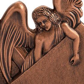 Vía Crucis bronce cobrizo 15 estaciones base madera s3