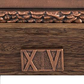 Vía Crucis bronce cobrizo 15 estaciones base madera s4