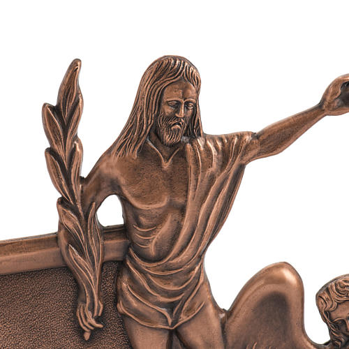 Way of the cross in copper plated bronze, 15 stations 2