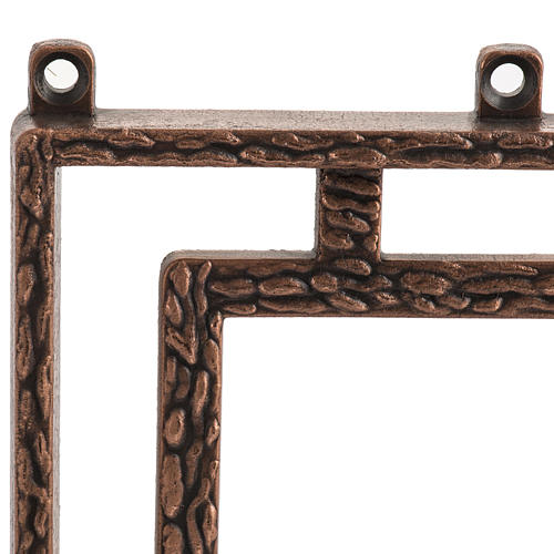 Way of the cross in copper plated bronze, 15 stations 5