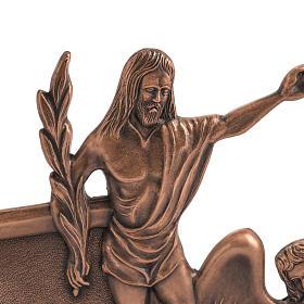 Via Crucis 15 stazioni in bronzo ramato crocetta legno s2