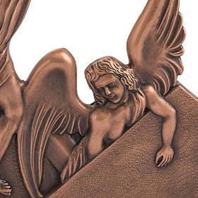 Via Crucis 15 stazioni in bronzo ramato crocetta legno s3