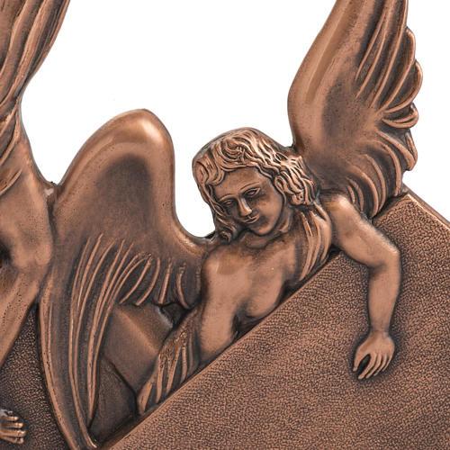 Via Crucis 15 stazioni in bronzo ramato crocetta legno 3