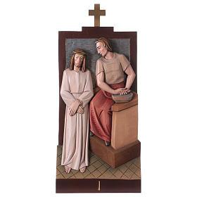 Droga Krzyżowa: Droga Krzyżowa 14 Stacji drewno malowane Valgardena 40x20 cm