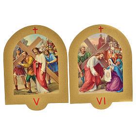 Vía Crucis estampa sobre madera 19x14 cm 15 estaciones s4
