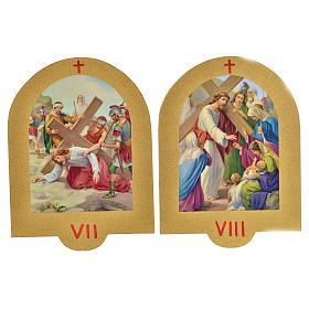 Via Crucis stampa su legno 19x14 cm 15 stazioni s5