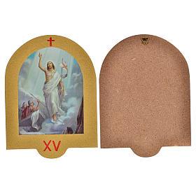 Via Crucis stampa su legno 19x14 cm 15 stazioni s9