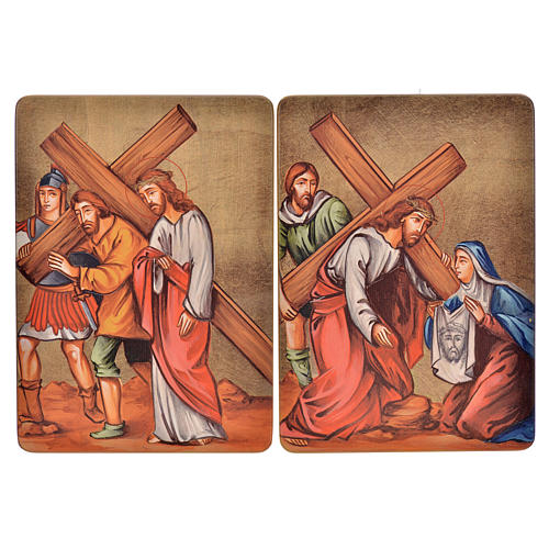Way of the cross, 15stations in wood 5