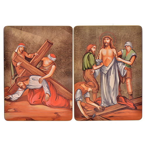 Way of the cross, 15stations in wood 7