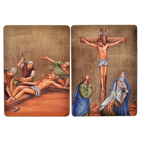Way of the cross, 15stations in wood 8