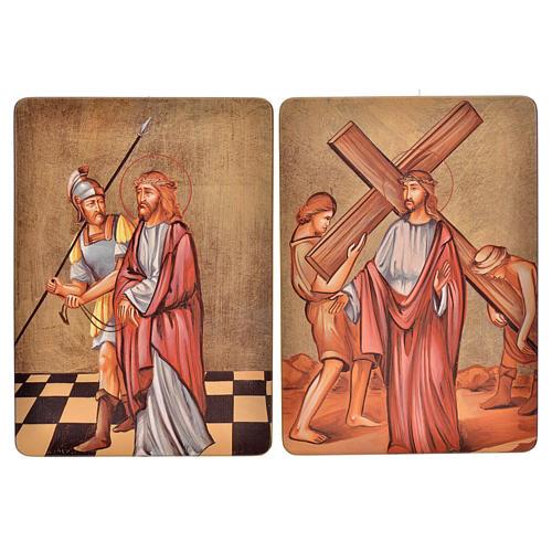Cuadro 15 Estaciones Vía Crucis madera 3