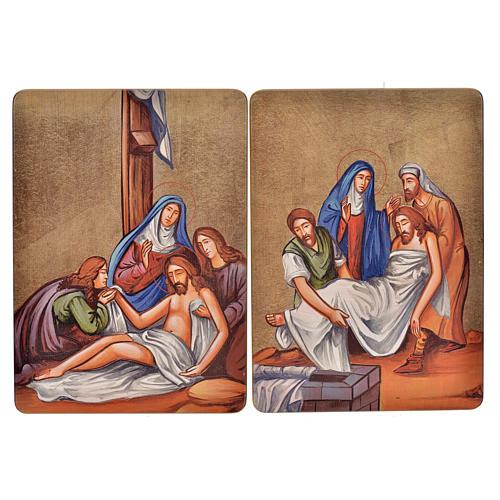 Cuadro 15 Estaciones Vía Crucis madera 9
