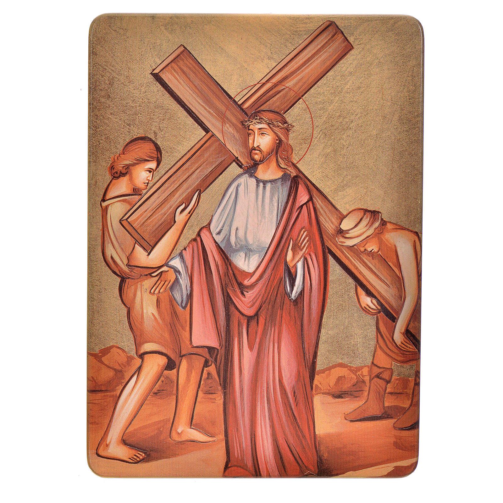 Quadri Stazioni Via Crucis 15 stazioni legno 4