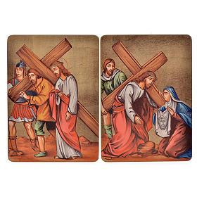 Quadri Stazioni Via Crucis 15 stazioni legno s5