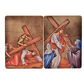Quadri Stazioni Via Crucis 15 stazioni legno s6