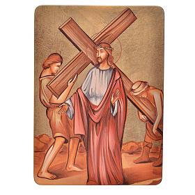 Quadri Stazioni Via Crucis 15 stazioni legno s2