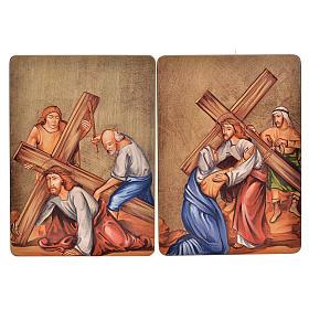 Quadri Stazioni Via Crucis 15 stazioni legno s4