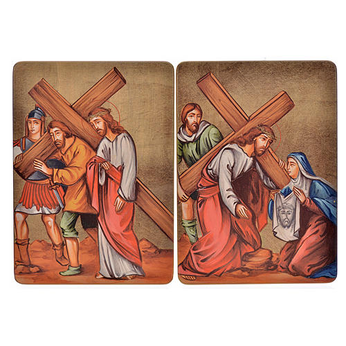 Quadri Stazioni Via Crucis 15 stazioni legno 5