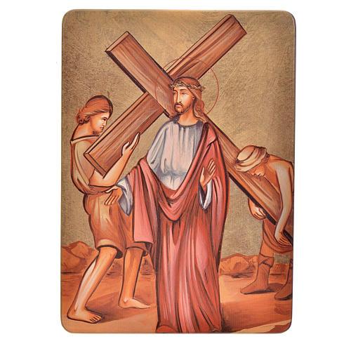Quadri Stazioni Via Crucis 15 stazioni legno 2