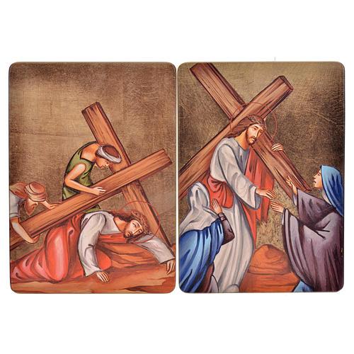 Quadri Stazioni Via Crucis 15 stazioni legno 6