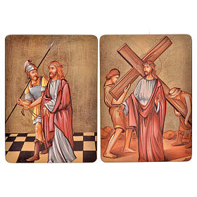 Via Crucis, 15 stations in wood s3