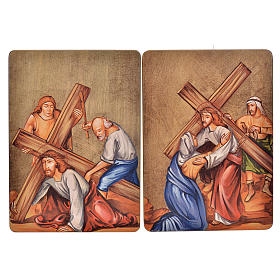 Via Crucis, 15 stations in wood s4