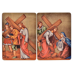 Via Crucis, 15 stations in wood s5