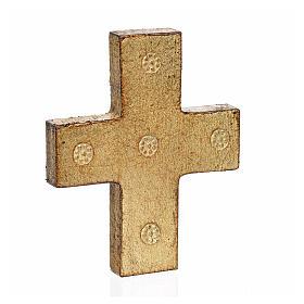 Vía Crucis 15 estaciones estampa sobre madera 30x19 cm s25