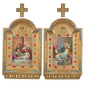 Via Crucis 15 stazioni Altarini stampa su legno 30x19 cm s8