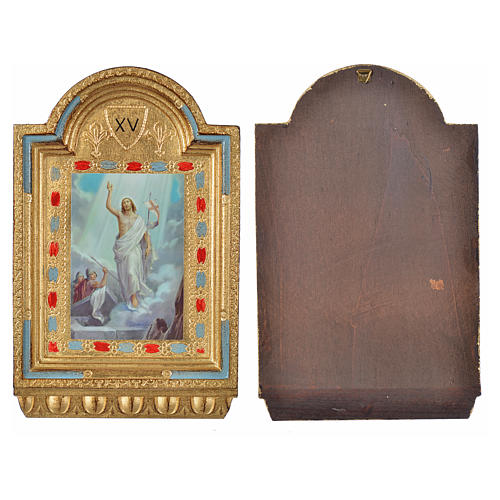 Way of the Cross, altars with print on wood 30x19cm 15 stations 22
