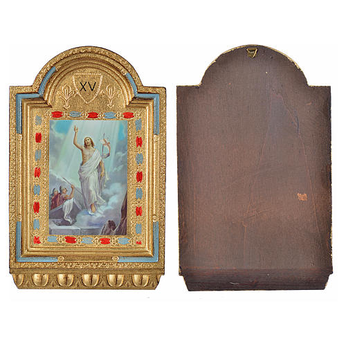 Way of the Cross, altars with print on wood 30x19cm 15 stations 10