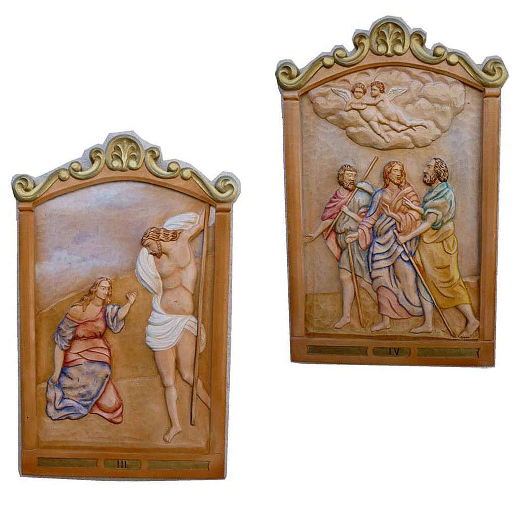 Vía Crucis 14 estaciones 80 x 60 cm  madera tallada a mano 4