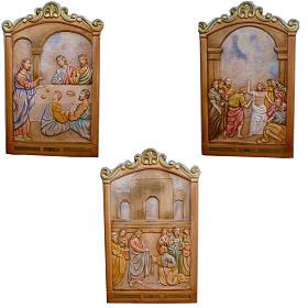 Vía Crucis 14 estaciones 80 x 60 cm  madera tallada a mano s4