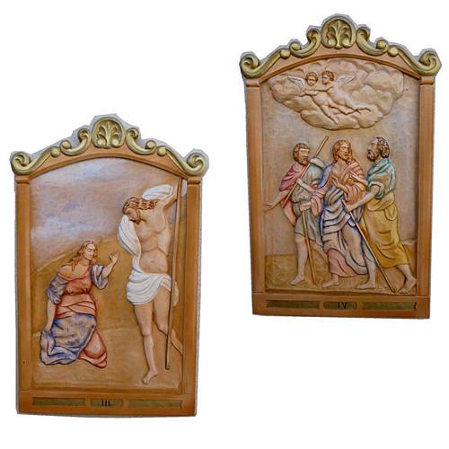 Vía Crucis 14 estaciones 80 x 60 cm  madera tallada a mano 2