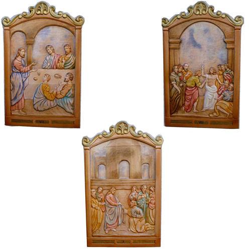 Via Crucis 14 Stazioni 80x60 cm legno scolpito a mano 4
