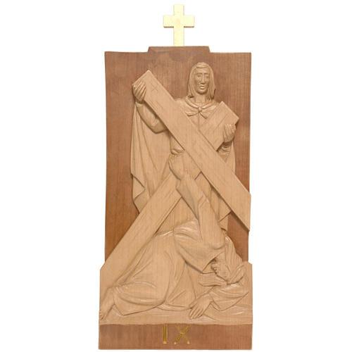 Vía Crucis 14 estaciones 40 x 20 cm madera de la Valgardena 2