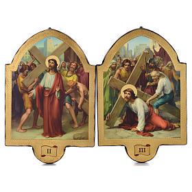 Via Crucis 15 stazioni 50x38 stampa su legno sgusciata s2