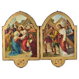 Via Crucis 15 stazioni 50x38 stampa su legno sgusciata s3