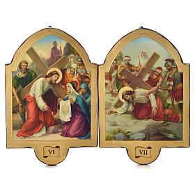 Via Crucis 15 stazioni 50x38 stampa su legno sgusciata s4