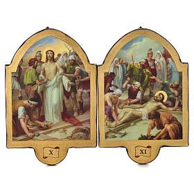 Via Crucis 15 stazioni 50x38 stampa su legno sgusciata s6
