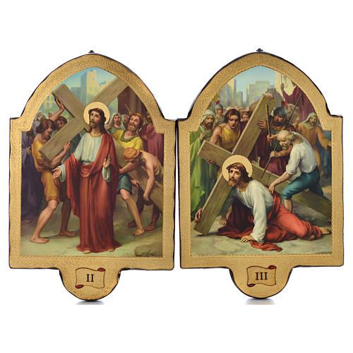 Via Crucis 15 stazioni 50x38 stampa su legno sgusciata 2
