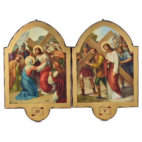 Via Crucis 15 stazioni 50x38 stampa su legno sgusciata 3