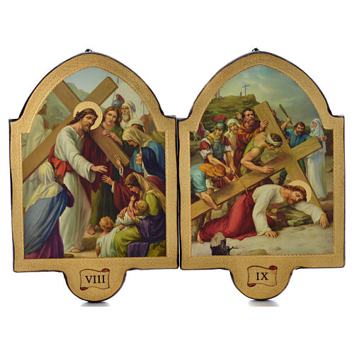 Via Crucis 15 stazioni 50x38 stampa su legno sgusciata 5