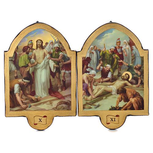 Via Crucis 15 stazioni 50x38 stampa su legno sgusciata 6
