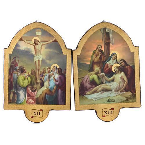 Via Crucis 15 stazioni 50x38 stampa su legno sgusciata 7