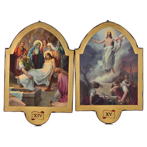 Via Crucis 15 stazioni 50x38 stampa su legno sgusciata 8
