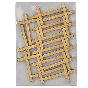 Way of the cross with 15 stations on wood with gold foil 52.5x35cm s9