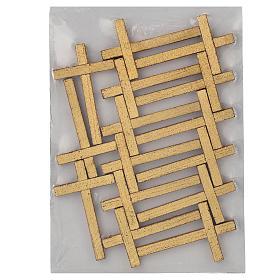 Via Crucis 15 tavole su legno sagomato foglia oro 52,5x35 s9