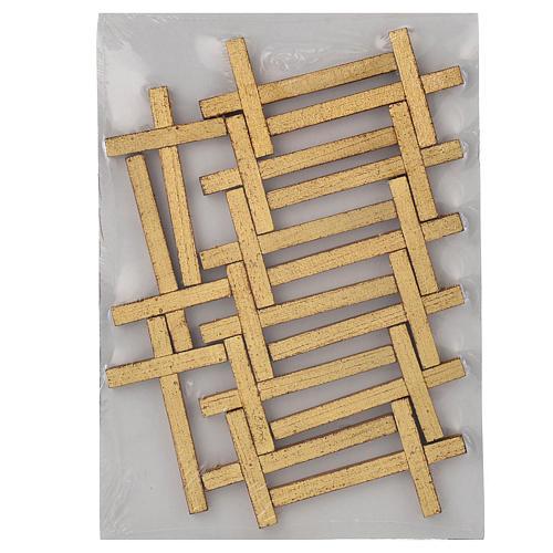 Via Crucis 15 tavole su legno sagomato foglia oro 52,5x35 9